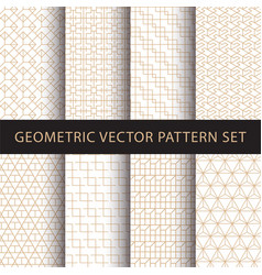 geometric pattern pack vector image