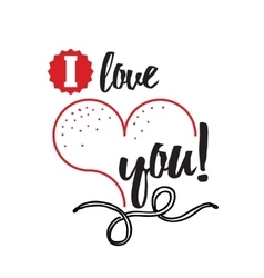 Happy Valentines Day card design Typographic and vector image