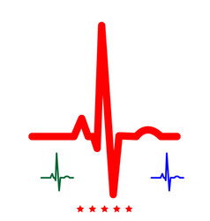 heart rhythm ekg icon flat style vector image