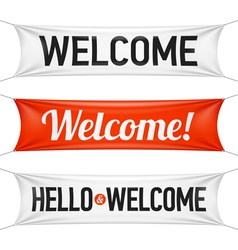 Hello and Welcome banners vector image vector image