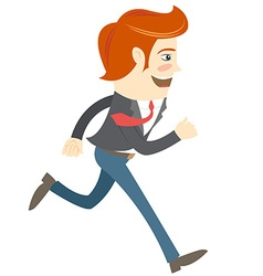 Hipster funny office worker running vector image vector image