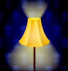 Lamp in dark vector image vector image