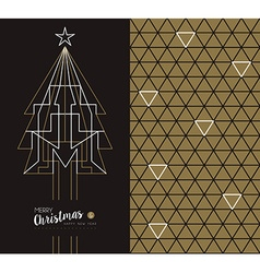 Merry christmas new year art deco set holiday card vector