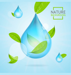 nature concept transparent purity drop water and vector image vector image