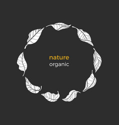 nature symbol circle vector image
