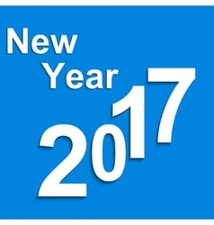 Paper symbols with shadow New Year 2017 vector image vector image