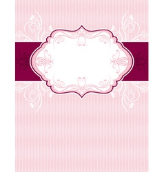 pink classical background with decorative ornament vector image vector image