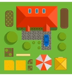 Plan of private house vector image