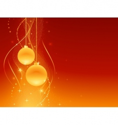 red golden festive christmas background vector image vector image