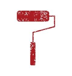 Red grunge roller logo vector
