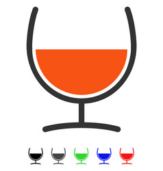 Remedy glass flat icon vector