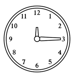 Round wall clock icon outline style vector