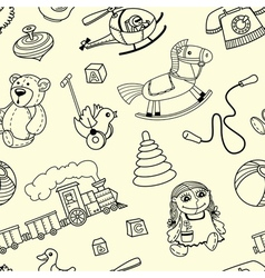 seamles pattern with toys for children vector image vector image