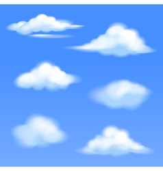 set of isolated clouds vector image vector image
