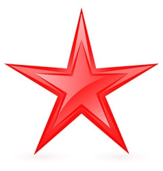 Shiny RED star 08 vector image vector image