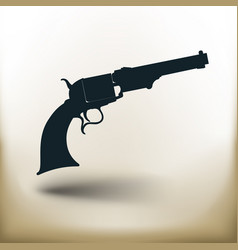 Simple old revolver vector