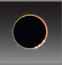 Solar eclipse - full sun eclipse bright light vector
