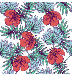 summer colorful hawaiian seamless pattern with vector image vector image