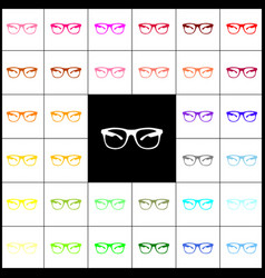 sunglasses sign felt-pen 33 vector image