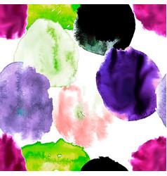 watercolor blots seamless vector image vector image