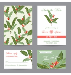 Wedding Invitation Congratulation Card Set vector image vector image
