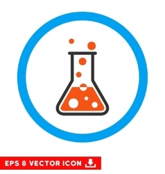 Boiling liquid flask eps rounded icon vector