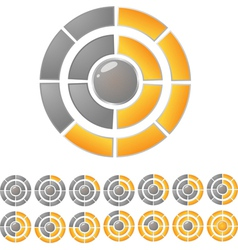 Circle download bar vector image