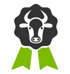 cow award seal flat icon vector image