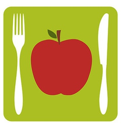 Vegetarian restaurant icon vector