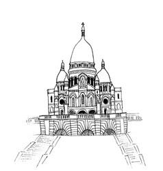 basilica of sacre coeur vector image