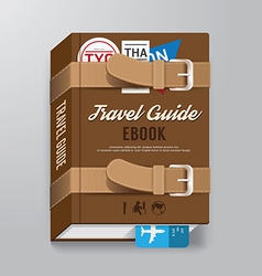 Book covertravel guide design template vector