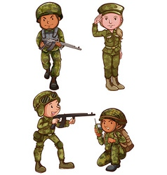 Simple sketches of the soldiers vector