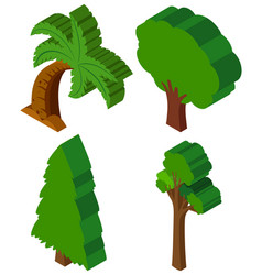 3d design for different types of trees vector
