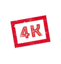 4K rubber stamp vector image