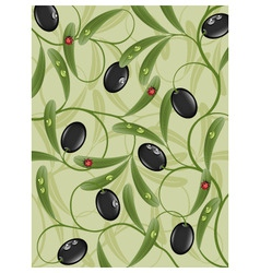 Floral background with olive vector