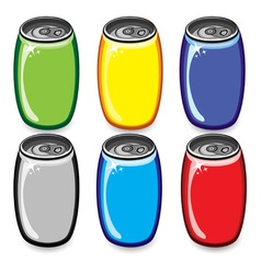 Soda cans vector