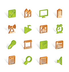 Mobile phone performance icons vector