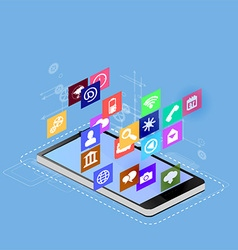 smartphone interface vector image