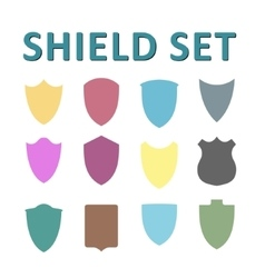 Colorful shields set vector