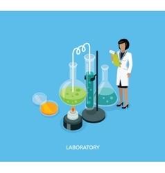 Science Lab Isomatric Design Flat vector image