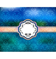 Abstract floral ornamental background with banner vector