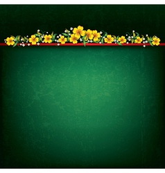 Abstract green grunge background with yellow vector
