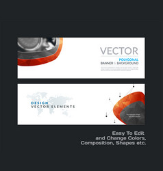 Abstract set of modern vector