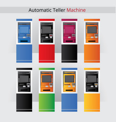 automatic teller machine vector image vector image