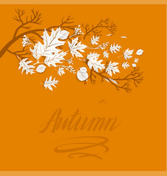 autumn branch image vector image vector image