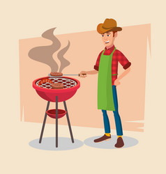 Bbq party barbecue tools grill forks vector