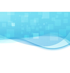 Blue background with transparent waves vector image vector image