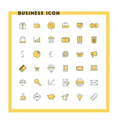 Business flat design icon set money shopping vector