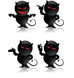 Devil toy gestures vector