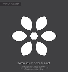 Flower premium icon white on dark background vector